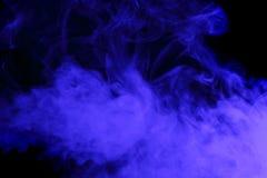 抽象蓝色烟水烟筒 免版税图库摄影