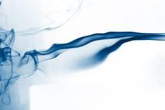 抽象蓝色烟 免版税库存图片