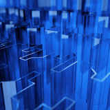 抽象蓝色玻璃 皇族释放例证