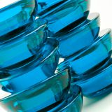 抽象蓝色玻璃 免版税库存图片