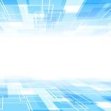 抽象蓝色瓦片透视背景模板 免版税库存照片