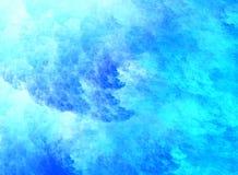 抽象蓝色电池云彩设计 库存照片