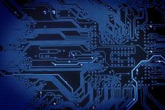 抽象蓝色电路数字式背景 免版税库存照片