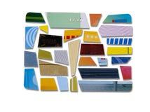 抽象蓝色看板卡赊帐照片 图库摄影