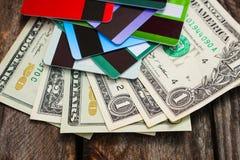 抽象蓝色看板卡赊帐照片 免版税图库摄影