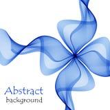 抽象蓝色礼物弓由透明丝带做成 库存例证