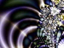 抽象蓝色紫色星形 免版税库存图片