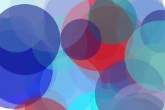 抽象蓝色红色盘旋例证背景 免版税库存图片