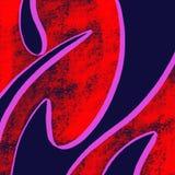 抽象蓝色红色背景 库存图片