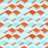 抽象蓝色纹理 传染媒介背景3d立方体 库存例证