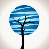 抽象蓝色结构树 免版税图库摄影