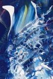 抽象蓝色绘画 免版税库存照片