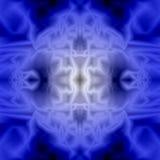 抽象蓝色背景和纹理 荧光的网眼图案 免版税库存图片