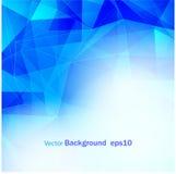 抽象蓝色背景多EPS10 免版税库存照片