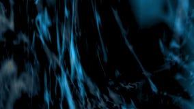 抽象蓝色背景数字式完全无缝的圈在黑背景的 皇族释放例证