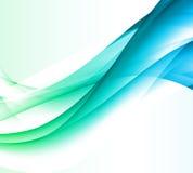 抽象蓝色背景,未来派波浪 图库摄影