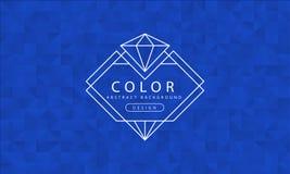 抽象蓝色背景,蓝色纹理,横幅蓝色墙纸,多角形蓝色,传染媒介例证 库存例证