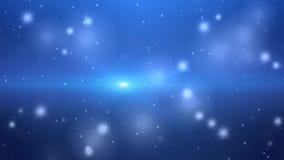 抽象蓝色背景withsparkles 向量例证