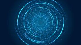 抽象蓝色脱氧核糖核酸分子结构录影动画 皇族释放例证