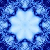 抽象蓝色花卉 库存例证