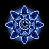 抽象蓝色花 库存图片