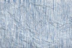 抽象蓝色被弄皱的灰色纸纹理 图库摄影