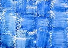 抽象蓝色装饰品水彩 免版税库存图片