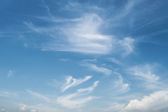 抽象蓝色覆盖例证天空向量 免版税库存照片