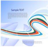 抽象蓝色设计向量 库存图片