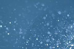 抽象蓝色轻的bokeh defocused背景 图库摄影