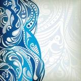 抽象蓝色通知 免版税库存照片