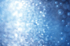 抽象蓝色闪闪发光背景 免版税库存照片