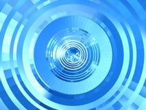 抽象蓝色隧道 皇族释放例证