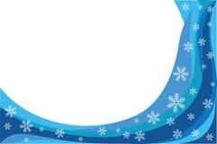 抽象蓝色雪通知 免版税库存照片