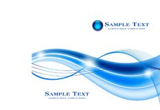 抽象蓝色颜色波浪设计元素背景 免版税库存图片