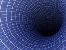 抽象蓝色颜色黑暗隧道 库存例证