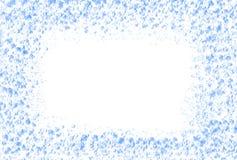 抽象蓝色飞溅的水当画框 库存图片