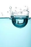 抽象蓝色飞溅水 免版税库存图片