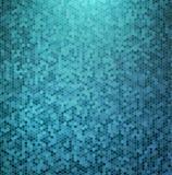 抽象蓝色马赛克背景 免版税库存图片