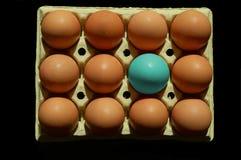 抽象蓝色鸡蛋 免版税库存图片