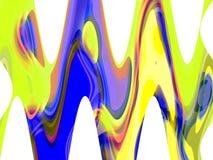 抽象蓝色黄色流体线背景、图表、抽象背景和纹理 皇族释放例证