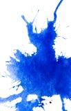 抽象蓝色水彩污点 免版税图库摄影
