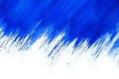 抽象蓝色水彩 库存照片