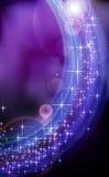 抽象蓝色幻想星背景。 免版税库存照片