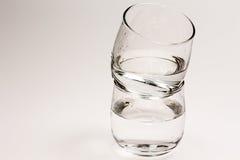 抽象蓝色玻璃照片水 免版税库存照片