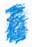 抽象蓝色绘画背景 免版税库存照片