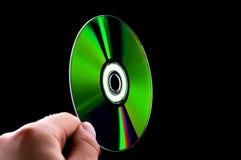 抽象蓝色CD的盘dvd现有量光芒 免版税图库摄影