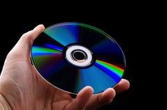抽象蓝色CD的盘dvd现有量光芒 免版税库存图片