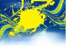 抽象蓝色grunge模板 免版税图库摄影