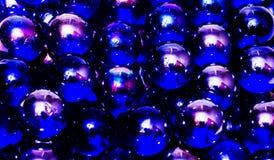 抽象蓝色Marbels背景 免版税库存照片